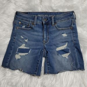 NEW AMERICAN EAGLE DISTRESSED SHORTS DENIM JEANS